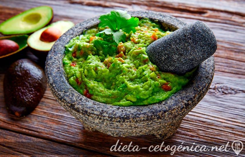 Receta guacamole keto